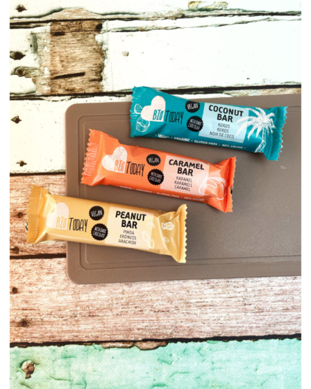 Vegan bounty, snickers en twix Biotoday
