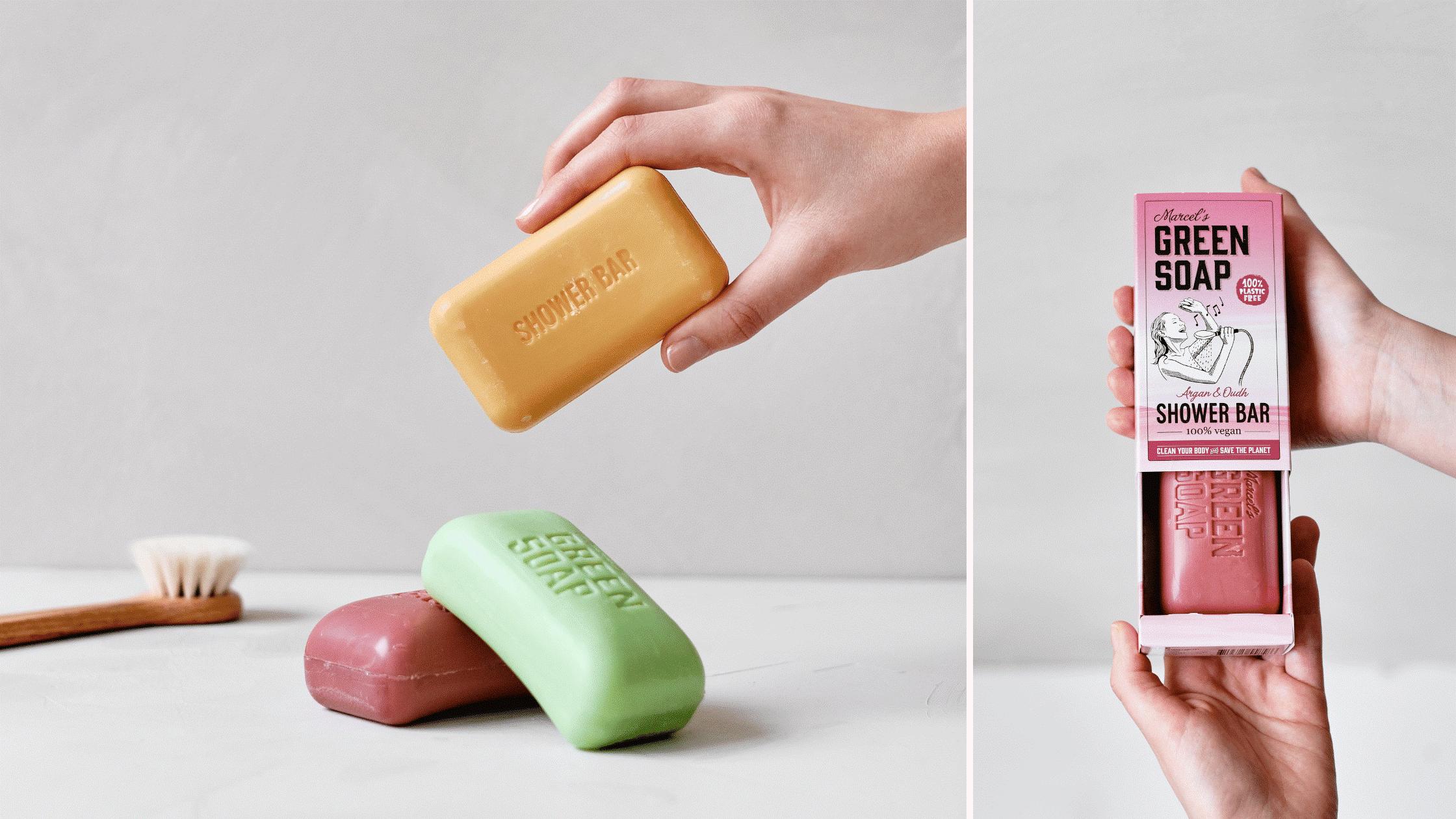 Marcel's green soap plastic vrije bar