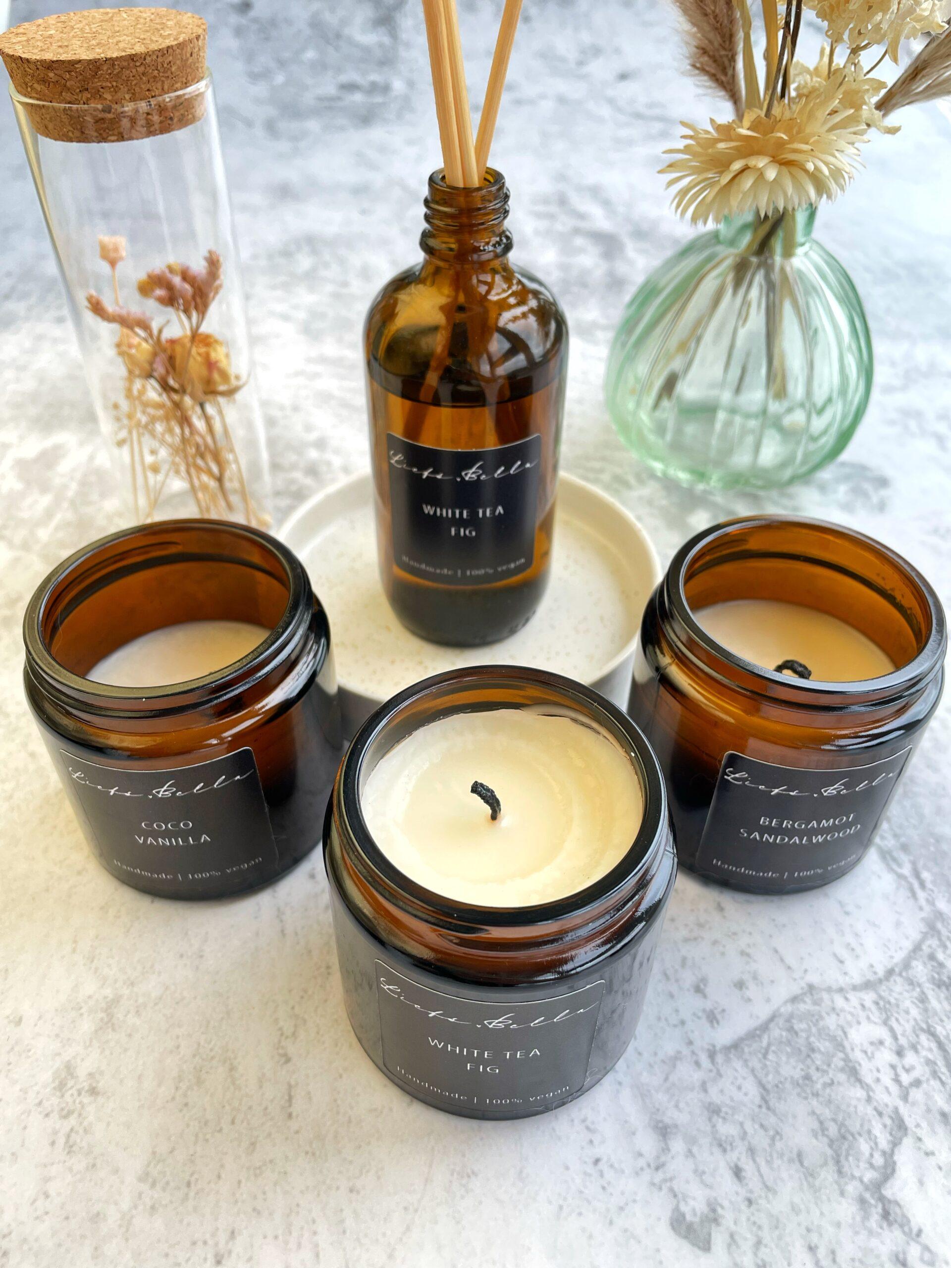 Liefs Bella producten zoals kaarsen en geurstokjes
