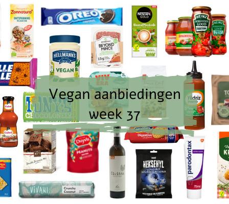 Overzicht Vegan aanbiedingen Week 37