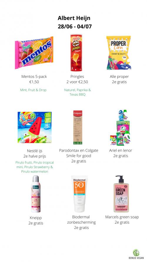 Nestle ijs, Colgate vegan tandpasta, mentos 5-pack
