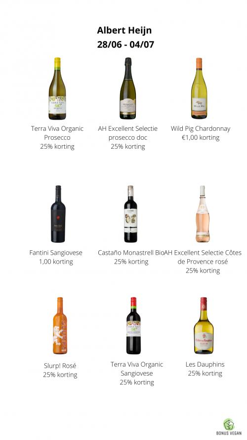 Vegan wijn in de aanbieding