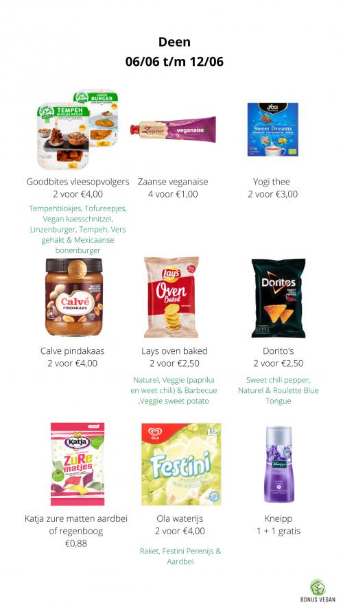 Vegan aanbiedingen Deen