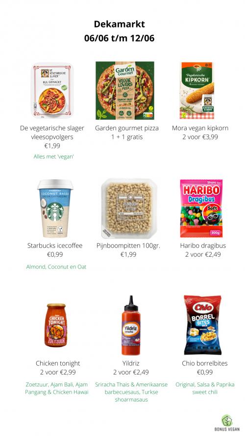 vegan aanbiedingen Dekamarkt