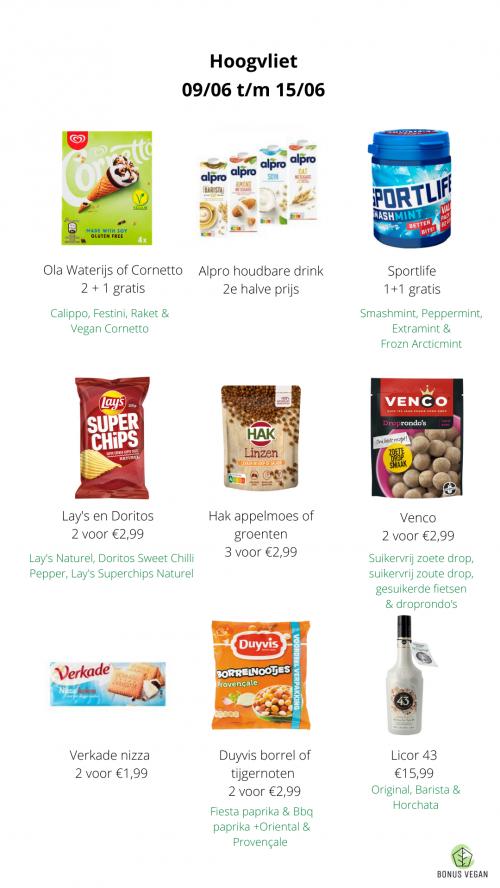 Hoogvliet vegan aanbiedingen
